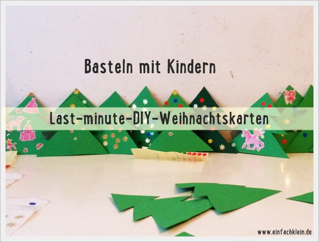 basteln mit kindern last minute diy weihnachtskarten. Black Bedroom Furniture Sets. Home Design Ideas