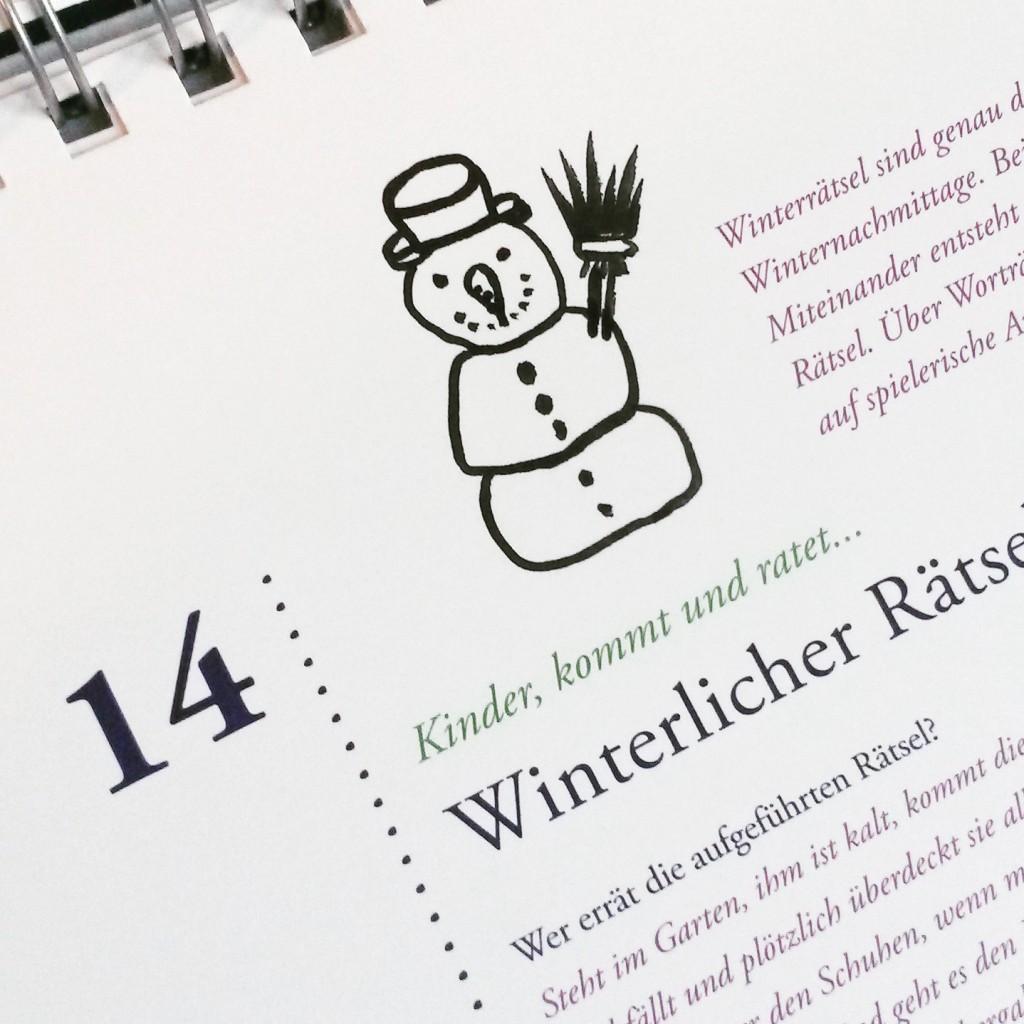 Kalender Schneemann